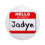 Hello my name is Jadyn Ornament (Round)