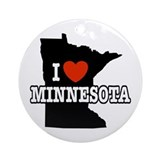 I Love Minnesota Keepsake (Round)