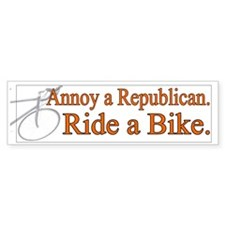 Annoy a Republican. Ride A Bi Bumper Car Sticker