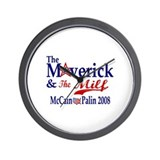 The Maverick and The Milf McCain Palin Wall Clock