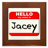Hello my name is Jacey Framed Tile
