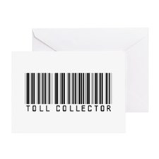 Toll Collector Barcode Greeting Card