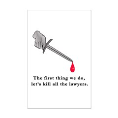Shakespeare Lets Kill all the Lawyers Mini Poster