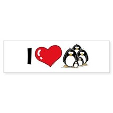 I Love Penguins Bumper Sticker (10 pk)