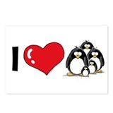 I Love Penguins Postcards (Package of 8)