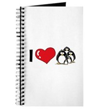 I Love Penguins Journal