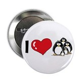 "I Love Penguins 2.25"" Button (100 pack)"