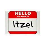 Hello my name is Itzel Rectangle Magnet