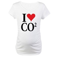 I Love co2 Maternity Tee
