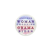 Woman Choosing Obama Mini Button (10 pack)