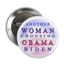 "Another Woman for Obama 2.25"" Button (100 pac"