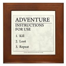 Adventure Instructions Framed Tile
