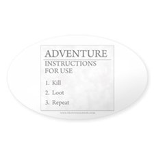 Adventure Instructions Oval Sticker (50 pk)