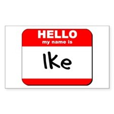 Hello my name is Ike Rectangle Decal