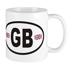 GB Great Britain Euro Style Mug