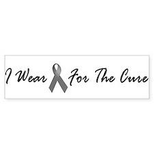 I Wear Grey For The Cure 1 Bumper Bumper Sticker
