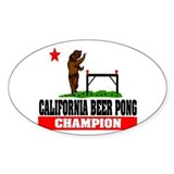 """California Beer Pong Champion"" Decal"