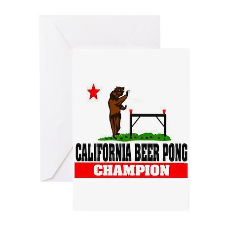 """California Beer Pong Champion"" Greeting Cards (Pk"