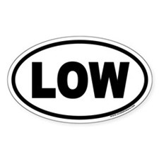 LOW Euro Oval Decal