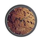 Egypt Hieroglyphic Wall Photo Wall Clock