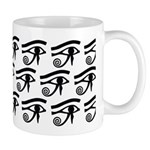 Eye of Horus Hieroglyphic Pattern Mug