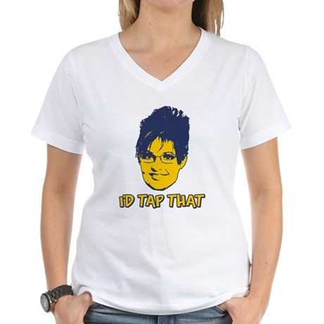 I'd Tap That Womens V-Neck T-Shirt