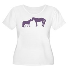 Horse Kisses Silhouette T-Shirt