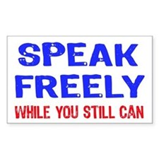 SPEAK FREELY Rectangle Decal