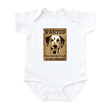"""Wanted"" Dalmatian Infant Bodysuit"