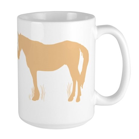 Horse Kisses Silhouette Large Mug