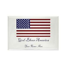 God Bless America Rectangle Magnet (100 pack)