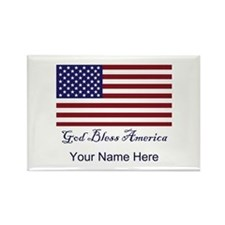 God Bless America Rectangle Magnet
