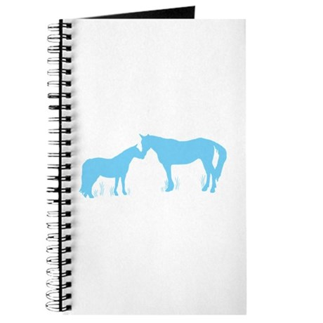 Horse Kisses Silhouette Journal
