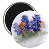 Bluebonnets with Indian Paint 2.25&quot; Magnet (10 pac