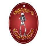 Harmonica Playing Skeleton Christmas Ornament