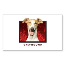Greyhound Rectangle Decal