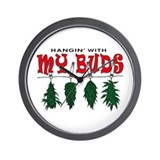 Weed Buds Hanging Wall Clock