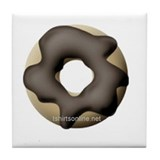 Chocolate Donuts Tile Coaster