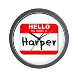 Hello my name is Harper Wall Clock
