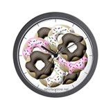 Multi-Colored Donuts Wall Clock