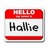 Hello my name is Hallie Mousepad