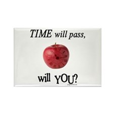 Time will pass, will you? Rectangle Magnet (10 pac