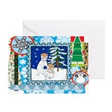 Scrapbook Ferret Christmas Greeting Card