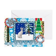 Scrapbook Sphynx Christmas Greeting Card