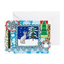 Scrapbook Sphynx Christmas Greeting Cards (Pk of 2