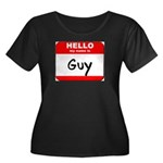 Hello my name is Guy Women's Plus Size Scoop Neck