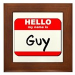 Hello my name is Guy Framed Tile