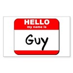 Hello my name is Guy Rectangle Sticker