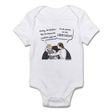 Big two scary, vote libertarian Infant Bodysuit