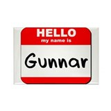 Hello my name is Gunnar Rectangle Magnet